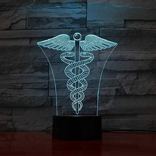 Freund Weihnachtsgeschenke Weihnachtstisch Geschenke 3D Lampe Creative 7 Farben 3D LED Visual Double Snake Wicklung auf Winged Rod Nachtlichter USB Tischlampe Schlafzimmer Schlaf Beleuchtung Deko