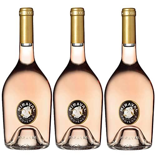 Chateau Miraval Jolie-Pitt & Perrin Cotes de Provence AOC Roséwein Wein trocken Frankreich (3 Flaschen)