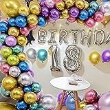 Osugin 70 globos metálicos de colores variados de globos metálicos en 7 colores metálicos, globos de helio metalizados para cumpleaños, baby showers, bodas, decoración de fiestas