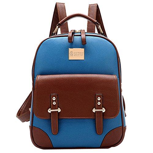 Coofit Borse a tracolla Vintage British Style Leather Bag ragazze zaino per Travel