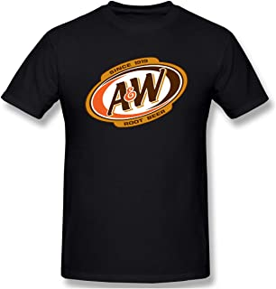 JohnnyKJayTee Mens A&W Root Beer Logo Casual T-Shirt Colornam with Creative Printed Short Sleeve