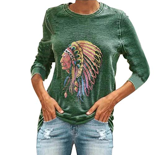 Best Prices! Kiminana Ladies Printed Long Sleeve Round Neck Sweater Fashion Casual Hoodie Sweatshirt...
