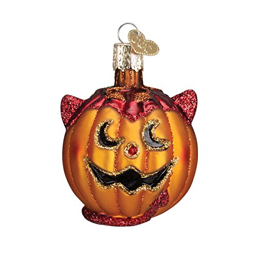 Glittered Pumpkin Ornament for Halloween Tree