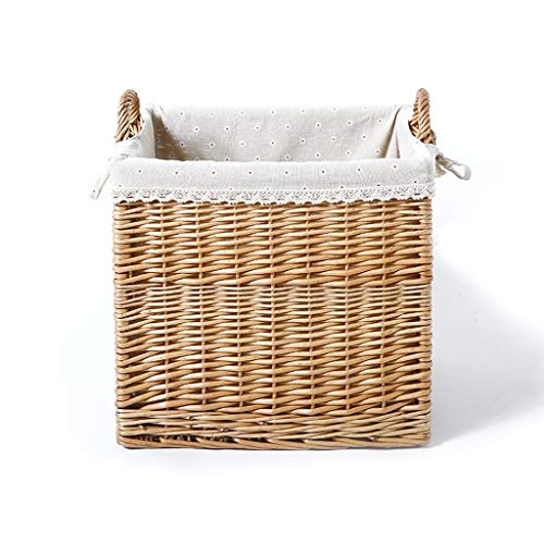Dirty Clothes Basket Dirty Clothes Storage Basket Rattan Wicker Home Toys To Wash Clothes Basket Bamboo Weaving Dirty Clothes ZHJING (Color : Primary color snowflake)
