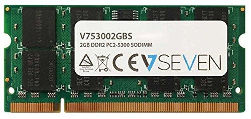 V7 V753002GBS V7 2GB DDR2 PC2-5300 667Mhz SO DIMM Notebook Modulo di memoria - V753002GBS