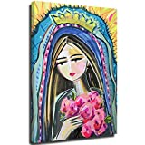 Hangquq Modern Our Lady of Guadalupe - Pintura para pared (50,8 x 71,1 cm)