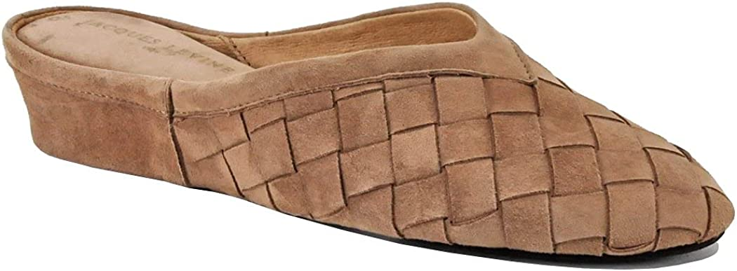 security Cheap Jacques Levine #4640 Woven Suede Womens Slipper