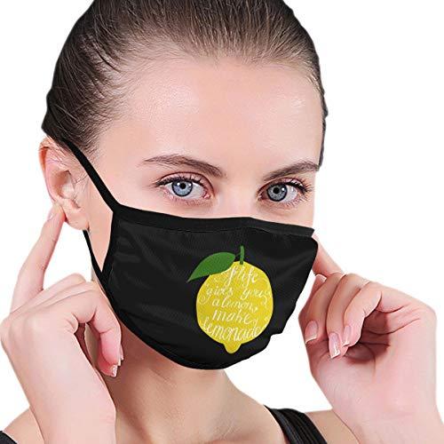 BAGR geeft u citroenen maken limonade masker voor mannen en vrouwen - masker kan worden gewassen herbruikbaar masker een maat meerdere patronen