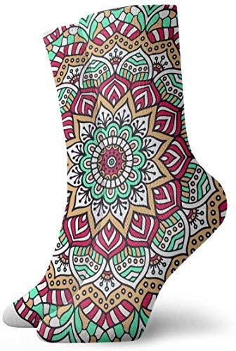 N\A Calcetines de compresión antideslizantes coloridos con anillo circular, calcetines deportivos acogedores de 11,8 pulgadas para hombres, mujeres y niños