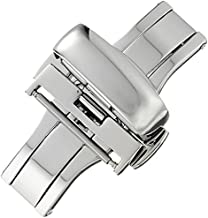 Hadley-Roma 18mm Stainless Steel Push Button Deployant Clasp