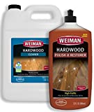 Weiman Hardwood Floor Cleaner and Polish - 128 Ounce Cleaner and 32 Ounce Polish - High-Traffic Hardwood Floor, Natural Shine, Removes Scratches, Leaves Protective Layer - Packaging May Vary