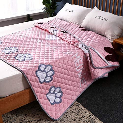 Anti-rutsch Drucken Matratze Boden japanische Faltbare Tatami matratze Atmungsaktiv Quilted Futon Matte Erwachsener Kind Tragbare Schlafen Pad HypoallergenE-150x200cm(59x79inch)
