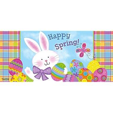 Evergreen Happy Spring Bunny Decorative Floor Mat Insert, 10 x 22 inches