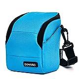 DOMISO Funda para cámara Canon EOS M6 M5 M3 M10 PowerShot SX540 HS SX430 IS / Sony A6500 A6300 A6000 A5100 / Nikon 1 J5 COOLPIX B700 B500 / Olympus E-PL 8, color azul