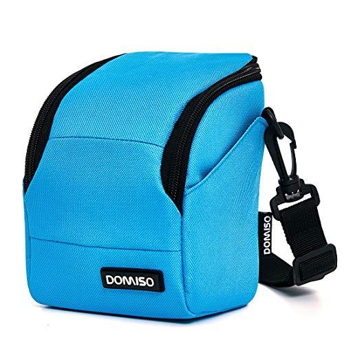 DOMISO camera case camera-etui schoudertas voor systeemcamera Canon EOS M6 M5 M3 M10 PowerShot SX540 HS SX430 is/Sony A6500 A6300 A6000 A5100 / Nikon 1 J5 COOLPIX B700 B500 / Olympus E-PL 8, zeeblauw