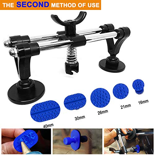 5559184311 Jtron Car Dent Removal Tools Car Dent Repair Tools PDR Auto Body 2 in 1 T-bar Glue Dent Puller With 24 Pcs Dent Removal Tabs Car Repair Tools Kit For Vehicle SUV Car Auto Body Hail Damage Remover A