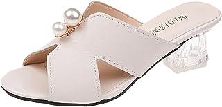 UULIKE Été Sandales Femmes,Sandale à Talon Bout Ouvert Compensées Été Mode Loisirs Romaines Ete Casual Pas Cher Pantoufles...