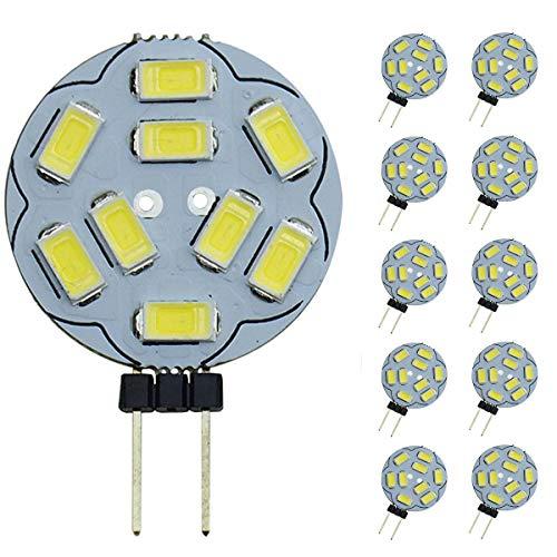 Ampoules LED Pocketmant Dimmable G4, 20W, remplacement pour lampe halogène, ampoules CC 12V 200LM G4, paquet de 10, blanc froid [Classe énergétique A +]