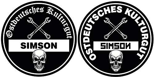 Ostdeutsches Kulturgut Simson Aufkleber Sticker Feinstaub JDM Tuning Lustig Fun Osten DDR 2 Stück!