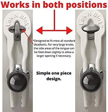 Lok N Blok Portable Door Lock Deadbolt Device No Tools Required for Maximum Deadbolt Protection Key Bumping Proof Deadbolt Gu