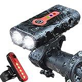 AASSXX Luz de bicicletasLuz de Bicicletas USB LED Luz Delantera Recargable Lámpara Faro Luz de Ciclismo Accesorios de Bicicleta Seguridad de conducción Nocturna
