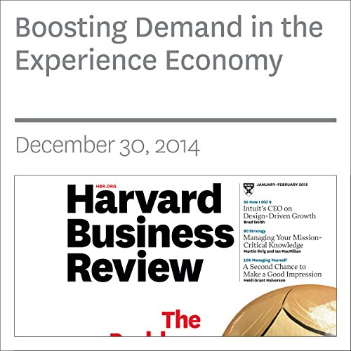 Boosting Demand in the Experience Economy copertina