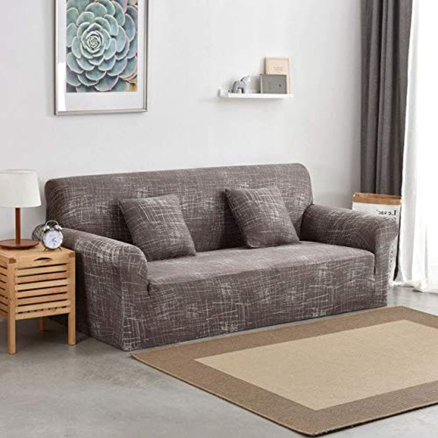 Elastic Stretch Sofa Covers Slipcovers L Shaped Sofa Cover Stretch Sectional Couch Cover Sofa Set Sofa Covers for Living Room   color 9, 3 Seater