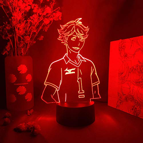 ToRU Oikawa - Lámpara de noche 3D para niños, diseño de anime, lámpara LED de anime, lámpara de mesa para niños, decoración para el hogar, regalo de 7 colores