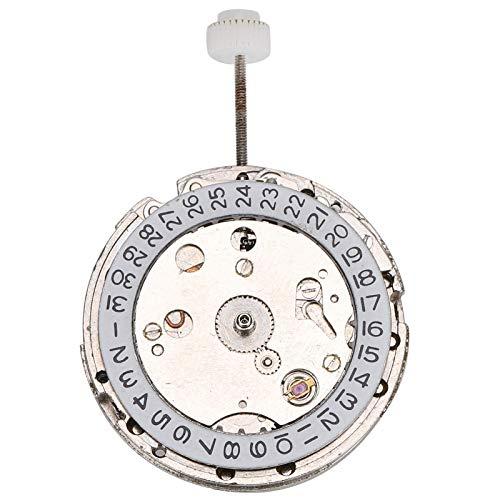 DAUERHAFT Material de Metal Pieza de Repuesto del Movimiento del Reloj Blanco Movimiento automático Durabilidad Pieza de Reloj mecánico para el Reloj 2813 Conveniente para la instalación