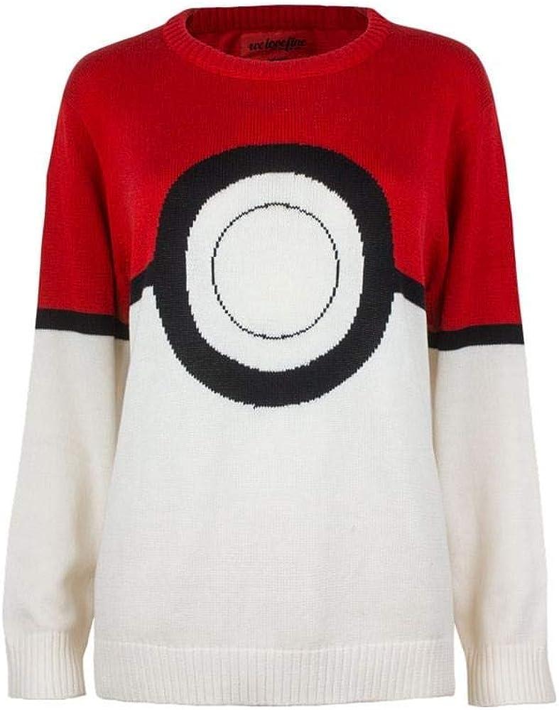 Pokemon I Am Pokeball Knit X-Small Max Ranking TOP3 57% OFF Sweater: White Pullover
