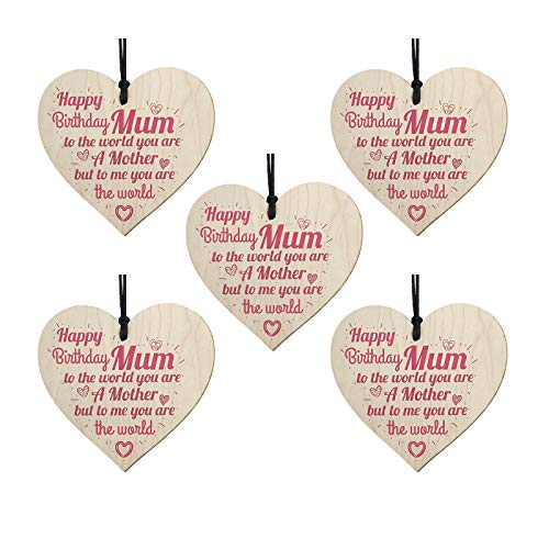 1/5/10PC New Mother's Day Decorations Wooden Love Pendant The Best-Gift for Mother Mothers Day Gifts for Mummy Mothers…