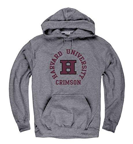Campus Colors Campus Farben Harvard Crimson Erwachsene NCAA Team Spirit Sweatshirt mit Kapuze–Graphit, Herren, Graphit, X-Large