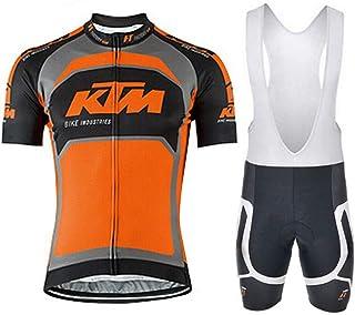 8e0cb58bee6ce logas Maillot Cuissard Cycliste Homme Tenue VTT Pro Vêtement de Vélo  Manches Courtes