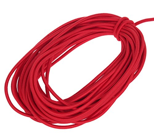 Usew 1/8-Inch (3mm) Red Heavy Stretch Round String Elastic Cord (Cut of 10 Yards)