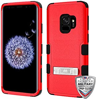 MyBat Samsung-Galaxy S9 Natural Red/Black TUFF Hybrid Phone Protector Cover with Stand