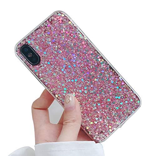 Funda protectora suave para iPhone 7Plus/8, translúcida de arena movediza, absorbe los golpes, brillante, regalo creativo de lujo para niñas B-iPhone 7