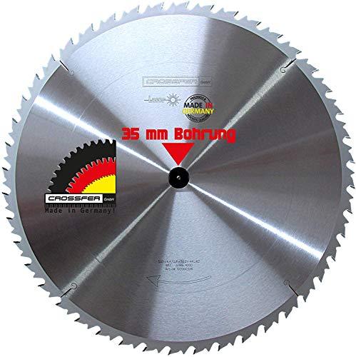 Hartmetall HM Kreissägeblatt 500x35 Z44 WZ Wechselzahn für Tischkreissägen, Handkreissägen, Gehrungssägen und Wippkreissägen. Grobschnittsägeblatt für den Längs- und Querschnitt in der Holzverarbeitung und Brennholzverarbeitung