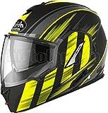 AIROH RE19IK31 Casco de moto, FLIP UP amarillo mate, REV19 IKON SZ. L