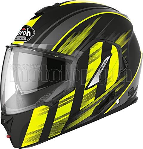 Airoh RE19IK31 - Casco de moto Flip Up amarillo mate REV19 IKON TG.XL