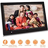10.1 inch IPS Screen Digital Photo Frame, Digital Picture Frame with Motion Sensor, Timing Power On/Off, Support 1080P HD Video Player, Background Music, USB Drive, SD Card [Jimwey] (10.1 inch)