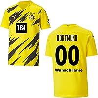 PUMA BVB Trikot Home Herren 2021, Größe:S, Spielerflock (zzgl. 10.00EUR):100 Wunschname