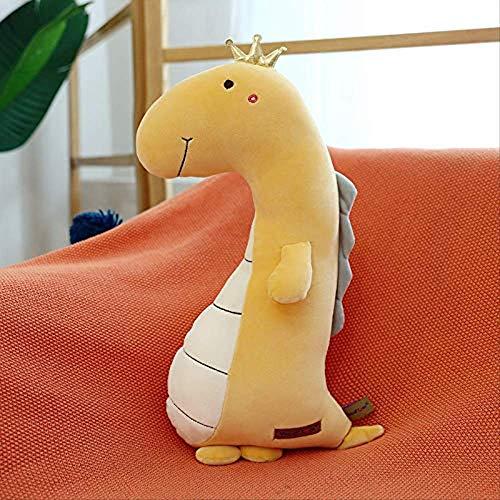 Kpcxdp Muñeca de Almohada de Dinosaurio Suave y cómoda, Varios Juguetes de Peluche para Dormir, Lindos Regalos de cumpleaños, 55 cm de Color Rosa