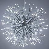 24' White Twinkling Starburst Cool White LED Light Ball - Christmas Light Balls - Wedding Decorations for Party - (24', White Branches/Cool White Twinkle Lights)