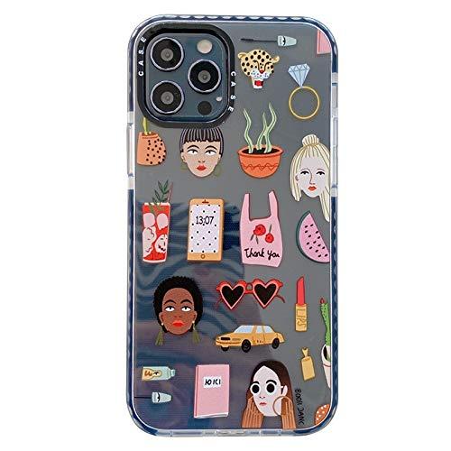 Wyalm Marca de Lujo Peligro DE Advertencia Etiqueta DE Advertencia Soft Silicon Funda para teléfono para Apple iPhone 12 Mini 7 8 x XS XR MAX 11 Pro Plus Back Tapa Trasera