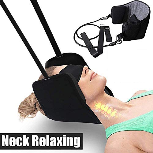 DIOMMELL Neck Head Hammock for Neck Pain Relief and Head Relaxation,with Durable Reinforced Elastic Cords&Adjustable Straps,Cervical Traction Device/Stretcher for Muscle Relaxation&Physical Therapy