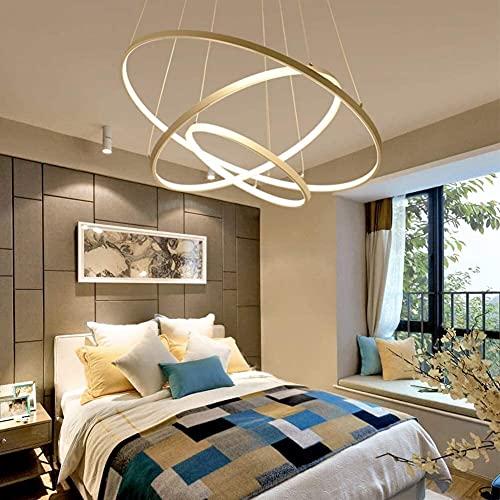 Lámpara Escritorio Moderno minimalista LED material acrílico luz colgante personalidad creativa restaurante luz colgante moderno minimalista barra de iluminación cálida luz tres cabeza diámetro 60cm.4