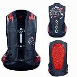 CUBEJQ90 Gilet Airbag Moto Gilet Airbag Cycliste Locomotive Anti-Chute for Combinaison Airbag Équipement D'équitation Gilet Gonflable Tissu en Nylon 600D (Noir, Non Équipé De Bouteille De Gaz CO2)