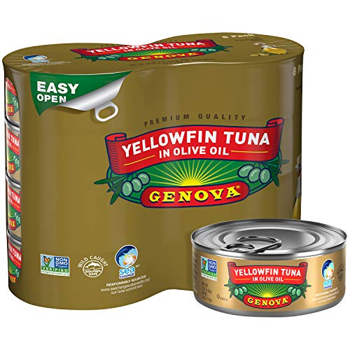 Genova Yellowfin Tuna in Olive Oil, 5 ounce can (Pack of 8)