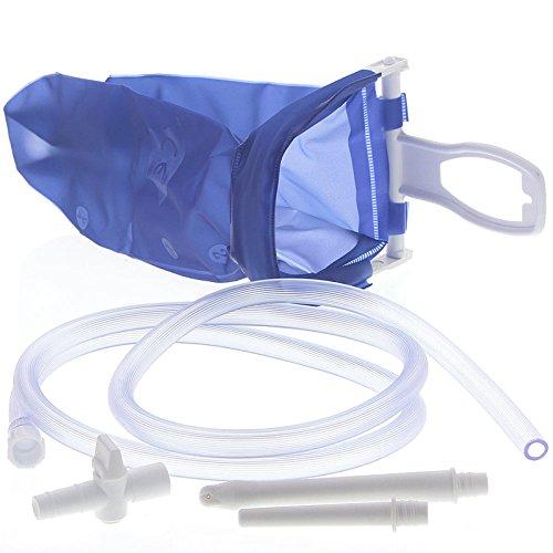 Reise-IRRIGATOR komplett - 2 L - aus Kunststoff┇Für die schonende Darmreinigung zu Hause oder unterwegs┇Einlauf-Set Darmspülung Darmreinigung Intimdusche