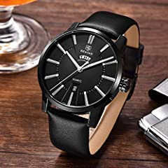 BENYAR Men's Watch Japan Quartz Movement-30M Waterproof Fashion Sports Chronograph Date Leather Men's Watch #1